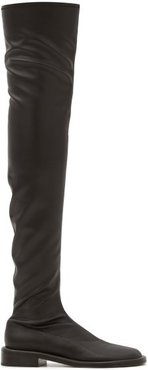 Pipe Faux-leather Over-the-knee Boots - Womens - Black