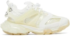 Track Panelled Faux-leather Trainers - Womens - Cream