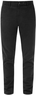 Cotton-blend Slim-fit Chino Trousers - Mens - Navy
