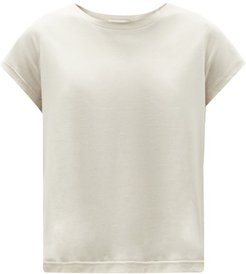 Mary Cropped Jersey T-shirt - Womens - Light Beige