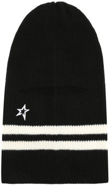 Perfect Ribbed Merino-wool Balaclava - Womens - Black