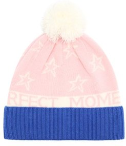 Star-intarsia Wool-blend Beanie - Womens - Pink Multi