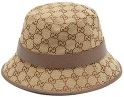 GG Supreme Canvas Bucket Hat - Mens - Beige