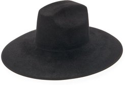 Wide-brimmed Felt Hat - Mens - Black