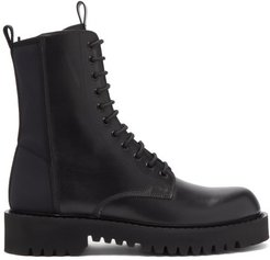 Neoprene And Leather Boots - Mens - Black