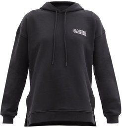 Software Recycled Cotton-blend Hooded Sweatshirt - Womens - Black