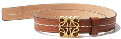 Anagram-plaque Leather Bracelet - Womens - Tan