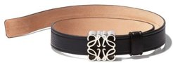 Anagram-plaque Leather Bracelet - Womens - Black