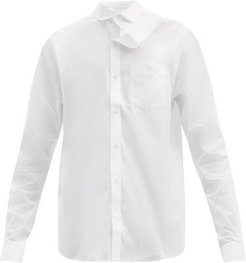 Asymmetric Organic-cotton Shirt - Mens - White