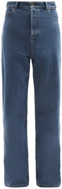 Evergreen Peep Show Slit-waist Jeans - Mens - Navy