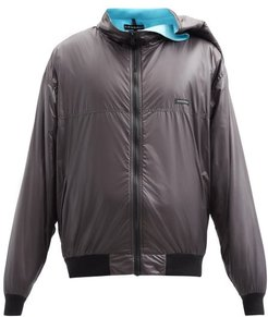 Clipped-shoulder Shell Jacket - Mens - Black Blue