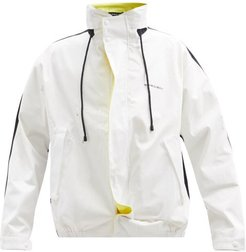 Asymmetric-placket Cotton-shell Jacket - Mens - White Multi