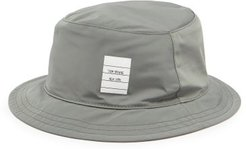 Logo-patch Gabardine Bucket Hat - Mens - Grey