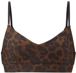 Signature Leopard-print Low-impact Sports Bra - Womens - Leopard
