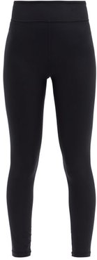 Cropped Jersey Leggings - Womens - Black