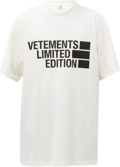 Limited Edition Logo-print Cotton-jersey T-shirt - Mens - White