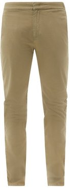 Campbell Slim-leg Cotton-blend Chino Trousers - Mens - Brown