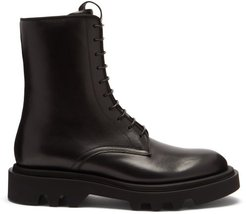 Lace-up Leather Boots - Mens - Black