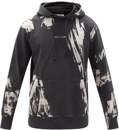 Tie-dye Cotton-jersey Hooded Sweatshirt - Mens - Black