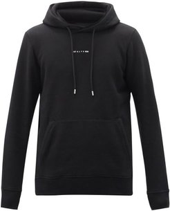 Visual Logo-print Cotton-blend Hooded Sweatshirt - Mens - Black