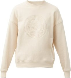 Fiena Embroidered Cotton-jersey Sweatshirt - Womens - Ivory