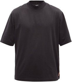 Esco High-neck Cotton T-shirt - Mens - Black