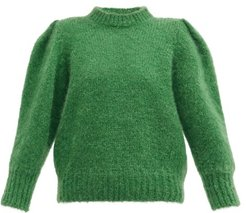 Emma Puff-sleeve Sweater - Womens - Green