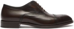 Sonnet Leather Oxford Shoes - Mens - Dark Brown