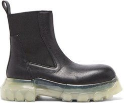 Beatle Bozo Chunky-sole Leather Chelsea Boots - Womens - Black White