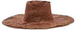 Nana Moulded Woven Hat - Womens - Camel