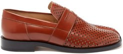 Tabi Split-toe Perforated Loafers - Womens - Tan