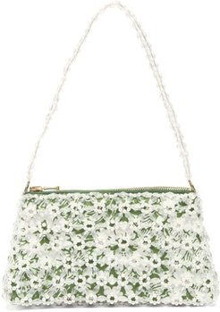 Dawson Floral-beaded And Faux-pearl Bag - Womens - Green Multi