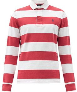Logo-embroidered Striped Cotton-jersey Rugby Shirt - Mens - Red White