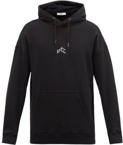 Refracted Embroidered Cotton Hooded Sweatshirt - Mens - Black