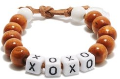 Xoxo Beaded Bracelet - Womens - Brown