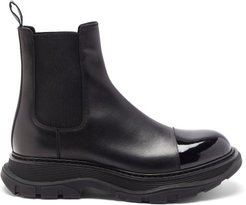 Tread Patent-toecap Leather Chelsea Boots - Mens - Black