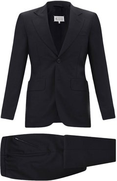 Four Stitches Wool-fresco Two-piece Suit - Mens - Black