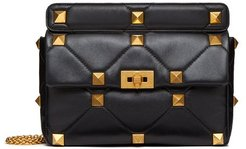 Roman Stud Medium Quilted-leather Shoulder Bag - Womens - Black