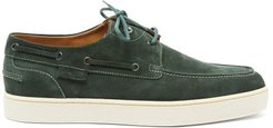 Pier Suede Boat Shoes - Mens - Green