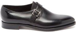 Kenton Monk-strap Leather Shoes - Mens - Black