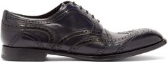 Derby Leather Brogues - Mens - Black