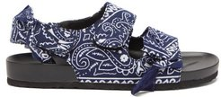 Apache Paisley-print Moulded-sole Sandals - Womens - Navy