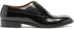 Toe-cap Leather Oxford Shoes - Mens - Black