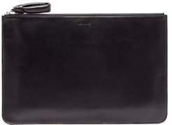 Logo-debossed Leather Pouch - Mens - Black