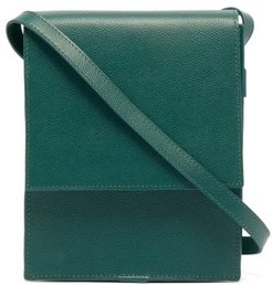 Grained-leather Cross-body Bag - Mens - Green