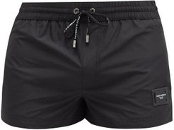 Logo-plaque Swim Shorts - Mens - Black