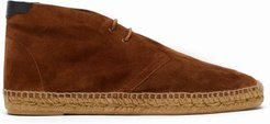 Suede Espadrille Boots - Mens - Brown