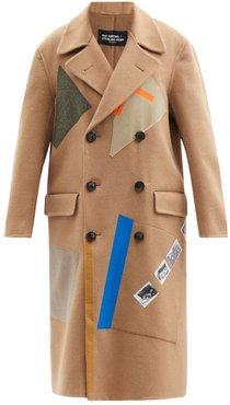 Aw14 Sterling Ruby Appliqué Wool-blend Coat - Womens - Camel