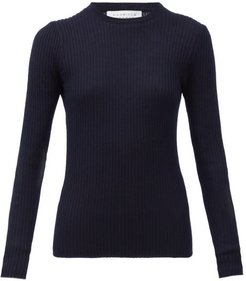 Browning Ribbed Cashmere-blend Sweater - Womens - Navy Multi
