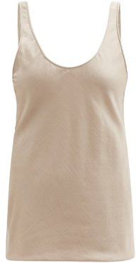 Kori Scoop-neck Silk-blend Twill Camisole - Womens - Camel